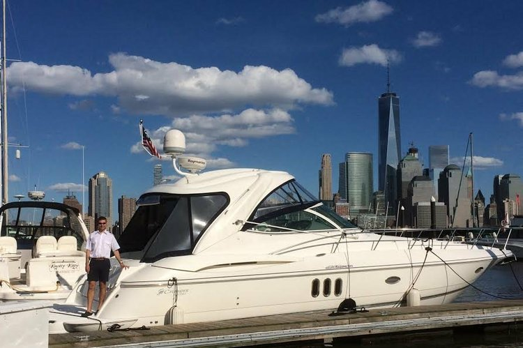 Discover Cos Cob surroundings on this 420 Express Cruisers Yachts boat