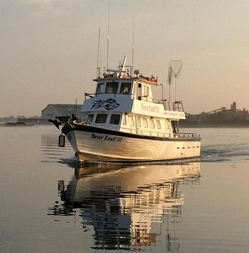 Discover Flushing surroundings on this 56 foot fishing boat DMR boat