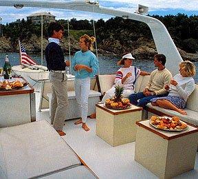 Motor yacht boat rental in Sag Harbor Marine Park, NY