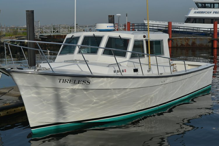 Tour New York Harbor in this beautiful 35' Maine Coaster