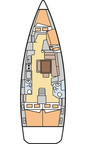 This 42.0' Bénéteau cand take up to 8 passengers around Aegean
