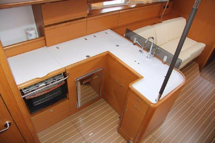 Discover Aegean surroundings on this Jeanneau 53 Jeanneau boat