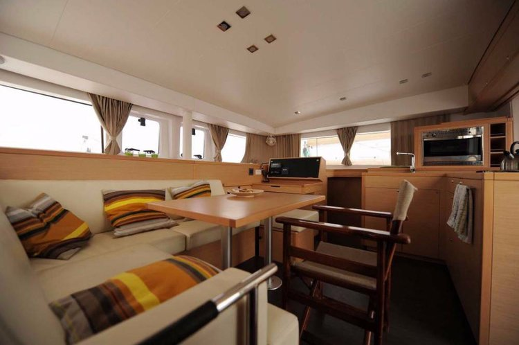 Catamaran boat rental in Cyclades,