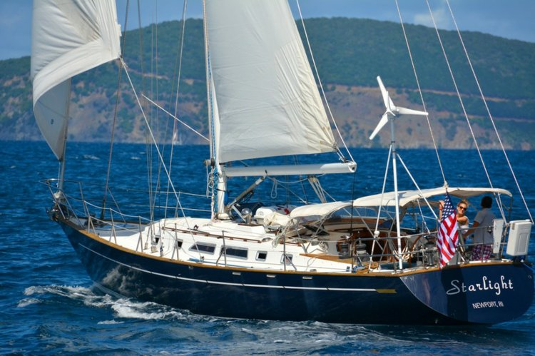 Sail Sag Harbor in elegance in this Tayana 52'