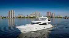 Cruise Palm Beach aboard this alluring Marquis 65'