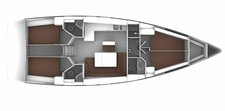 thumbnail-2 Bavaria Yachtbau 46.0 feet, boat for rent in Cyclades, GR