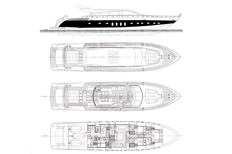This 101.0' Cantieri Dell'Arno cand take up to 12 passengers around Miami