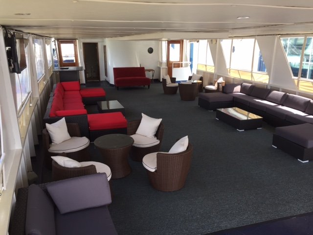 Up to 140 persons can enjoy a ride on this Motor yacht boat