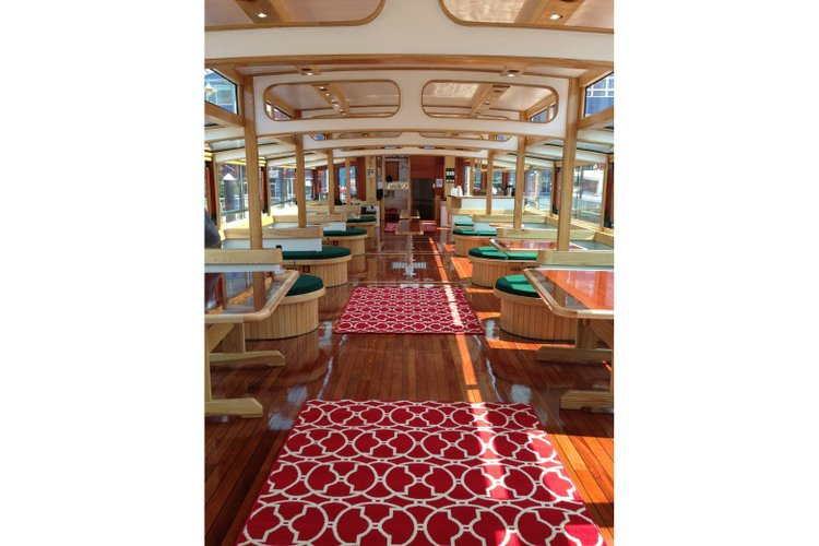 Up to 125 persons can enjoy a ride on this Classic boat