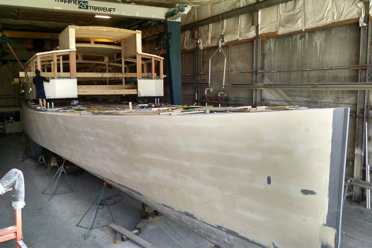 100.0 feet Scarano Boat Building in great shape