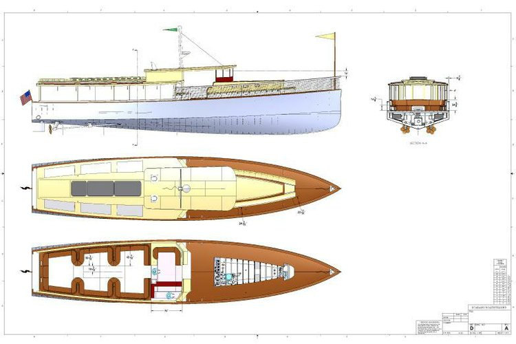 This 100.0' Scarano Boat Building cand take up to 125 passengers around New York