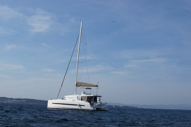 Cruise this gorgeous catamaran around Antigua