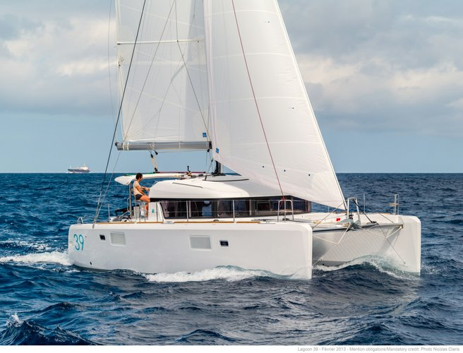 Set sail for Corsica on this beautiful Lagoon 39