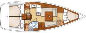 Boat for rent Oceanis 38.0 feet in port de corbieres, France