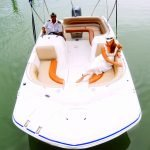 Discover North Bay Village surroundings on this 200 Hurricane boat