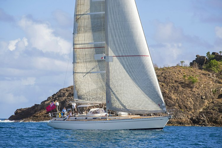 Discover St. Barths surroundings on this 68 Swan boat