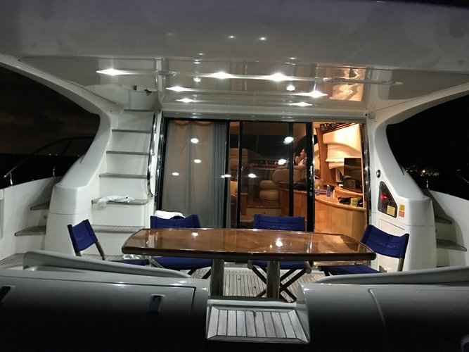 Discover Miami surroundings on this 62 Flybridge Azimut boat