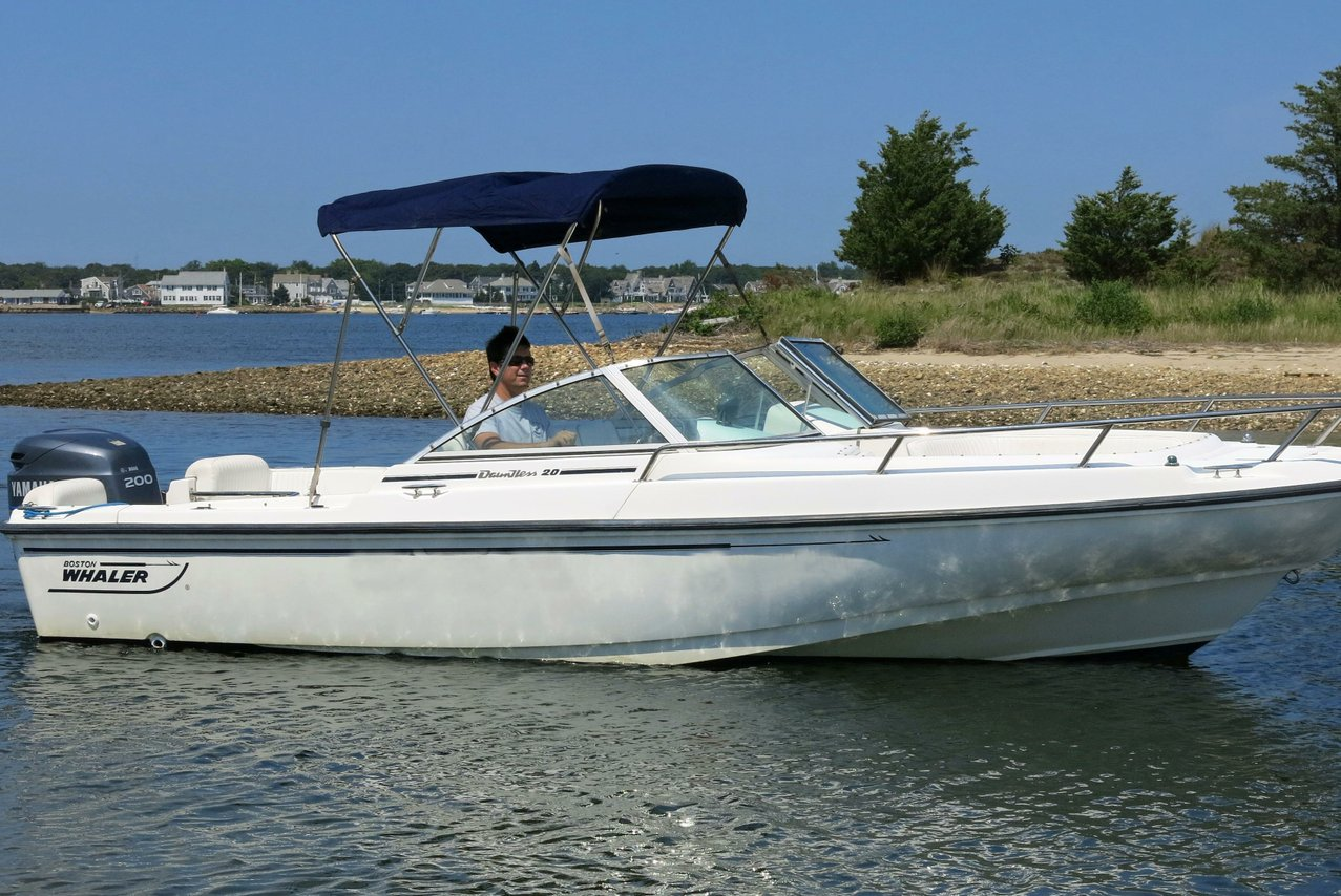 Rent a boston whaler dauntless 20 39 motorboat in barnstable for Motor boat rental boston