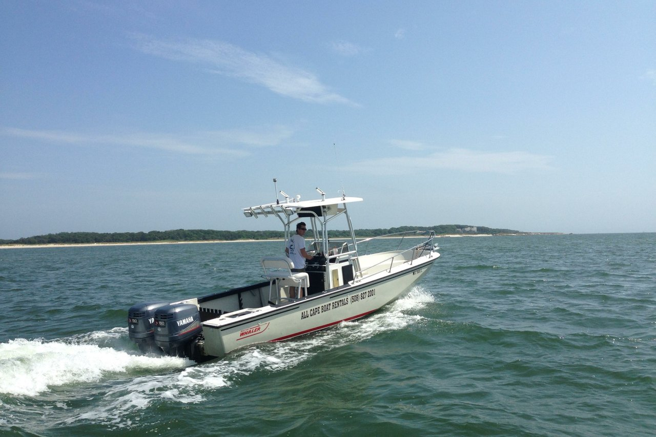 Rent a boston whaler outrage 25 39 motorboat in barnstable for Motor boat rental boston