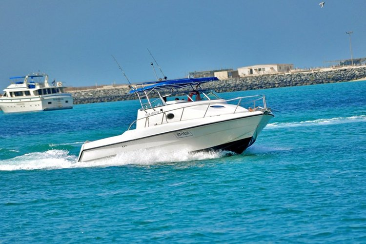 Up to 10 persons can enjoy a ride on this Performance fishing boat