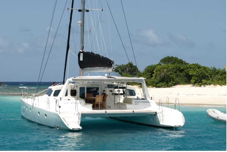 Luxury boat rentals tortola vg voyage catamaran 2075 for Fishing boat rental