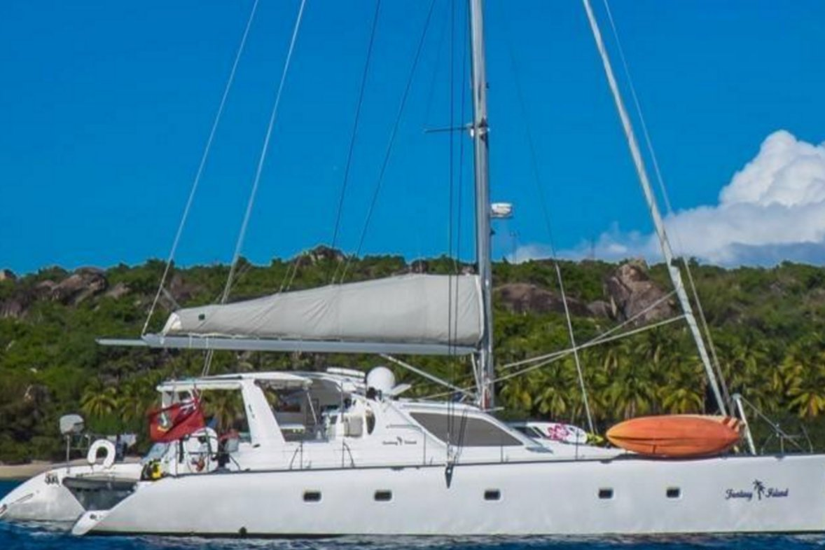 Sailing the Cerulean Waters of the Caribbean on this Hot Cat!