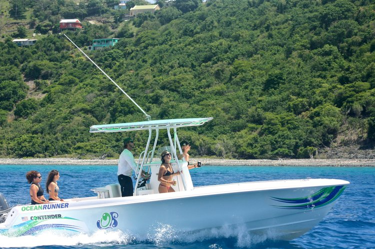 Center console boat for rent in