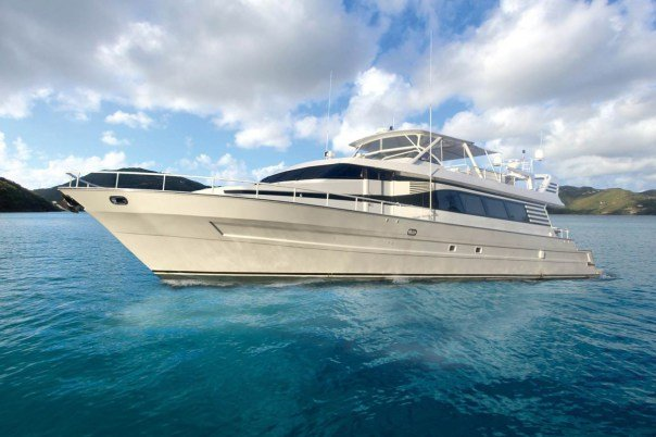 Motor yacht boat for rent in Tortola