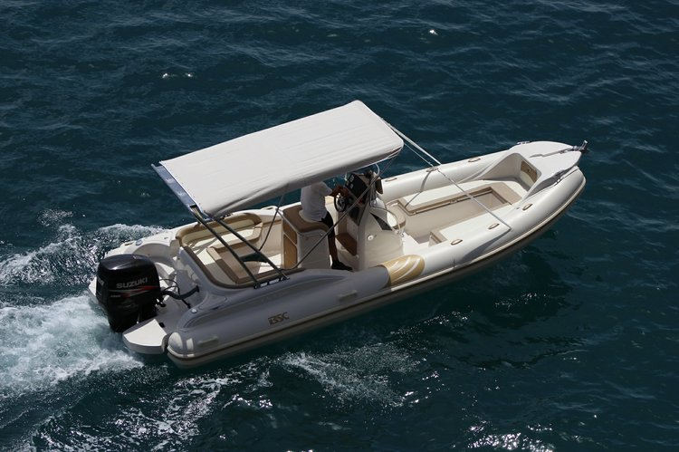 Up to 12 persons can enjoy a ride on this Rigid inflatable boat