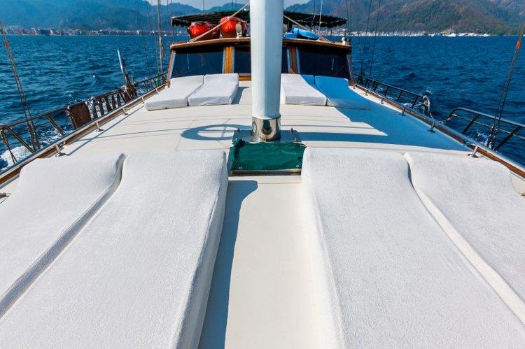 Motorsailer boat rental in mykonos,