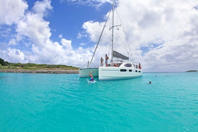 Catamaran boat for rent in St. Martin