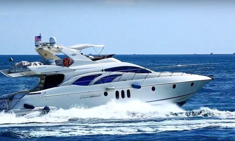 Discover Miami Beach surroundings on this Azimut Italian Motor Yacht Azimut Fly Bridge boat