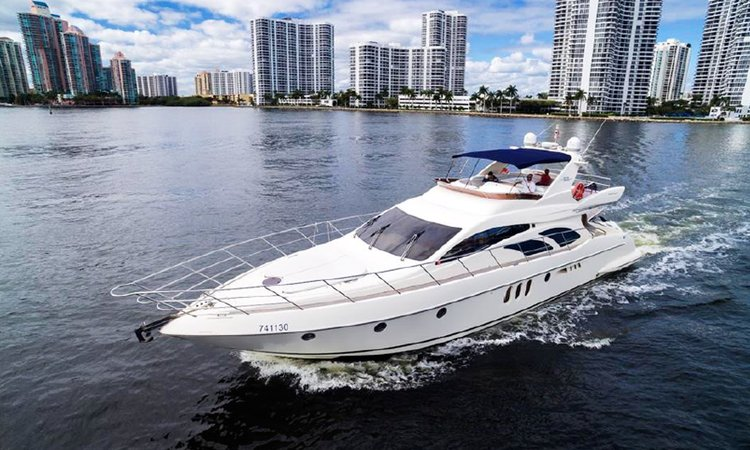 $500per hour 62' Azimut Fly Bridge Luxury Yacht + Jet Ski in Miami