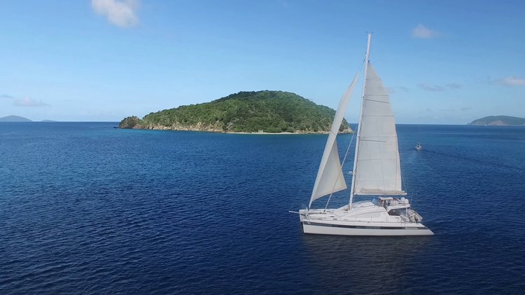 Catamaran boat rental in American Yacht Harbor, Red Hook, U.S. Virgin Islands