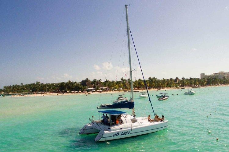 Boating is fun with a Catamaran in Cancun