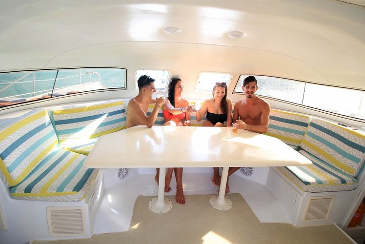 Discover Cancun surroundings on this 37 Custom boat