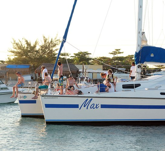 Up to 45 persons can enjoy a ride on this Catamaran boat
