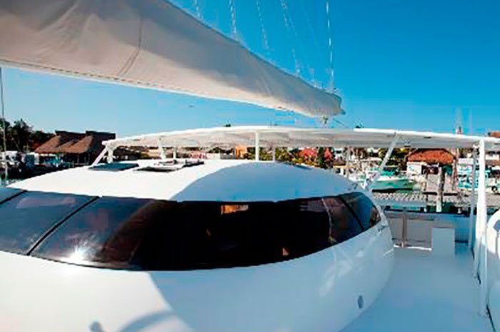 Up to 75 persons can enjoy a ride on this Catamaran boat