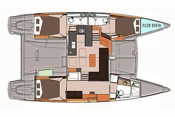 This 44.0' Fountaine Pajot cand take up to 4 passengers around Red Hook