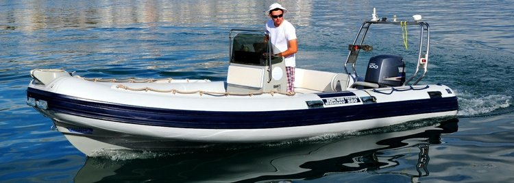 Up to 7 persons can enjoy a ride on this Inflatable outboard boat