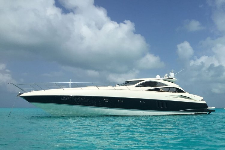 LUXURY YACHT RENTALS MIAMI. 70' SUNSEEKER PERFECT YACHT FOR ENTERTAINMENT