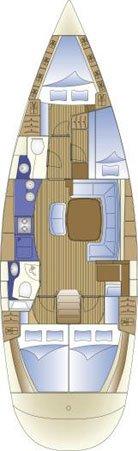 Discover Split region surroundings on this Bavaria 44 Bavaria Yachtbau boat