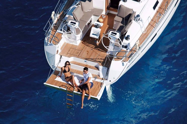Discover Aegean surroundings on this Bavaria Cruiser 46 Bavaria Yachtbau boat