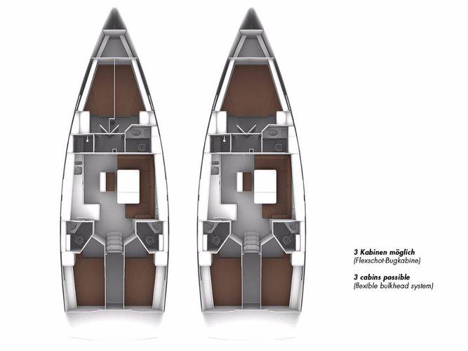 This 46.0' Bavaria Yachtbau cand take up to 9 passengers around Aegean
