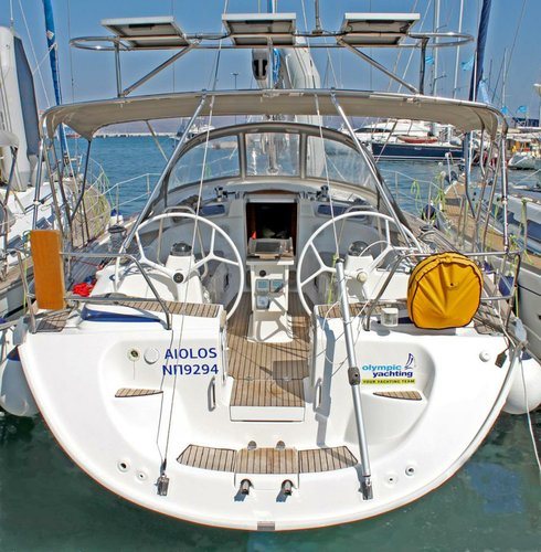 Sail the waters of Cyclades on this comfortable Bavaria Yachtba