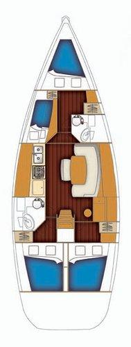 Boat for rent Bénéteau 43.0 feet in Athens - Marina Alimos (Kalamaki),