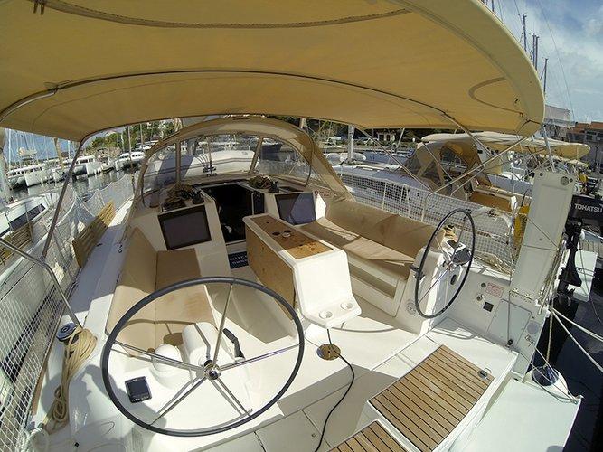 Discover Šibenik region surroundings on this Dufour 412 GL Dufour Yachts boat