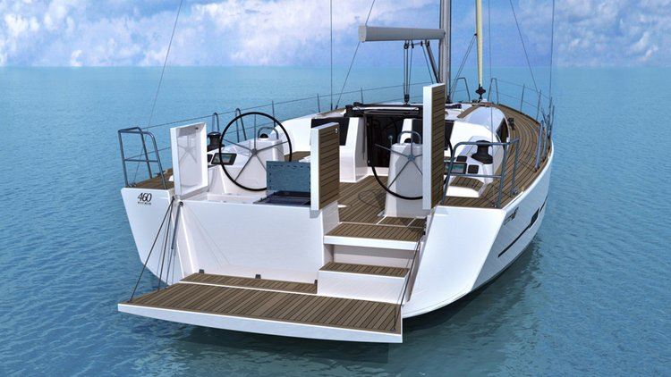Discover Cyclades surroundings on this Dufour 460 GL Dufour Yachts boat