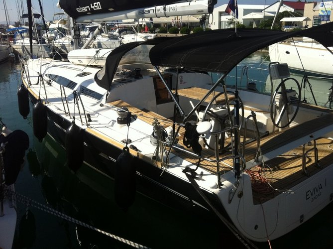 Discover Šibenik region surroundings on this Elan 450 Performance Elan Marine boat