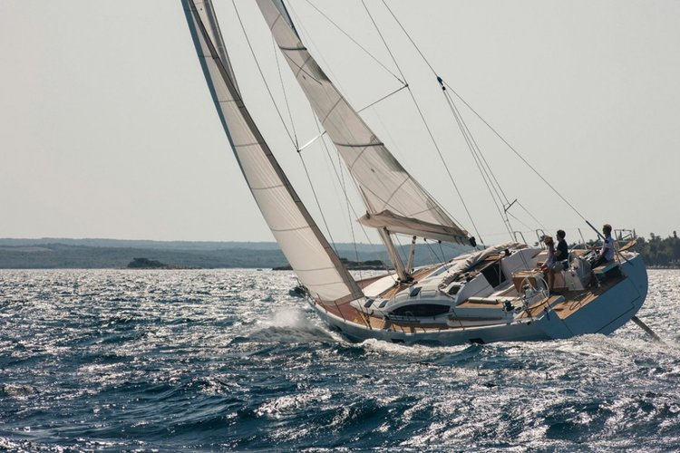 Sail Split region waters on a beautiful Elan Marine